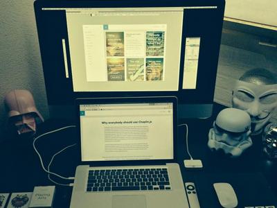 My Workstation work workstation apple imac macbook mbp star wars storm trooper darth vader v for vendetta