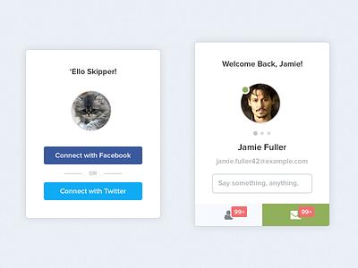 Profile freebie free resource profile flat minimal clean ui interface download