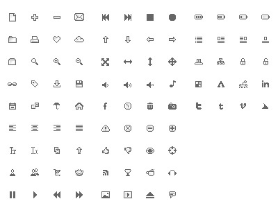 Pixel Perfect pt. III pixel icons design greyscale small freebie