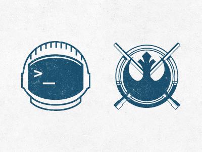 Astronaut Alliance logo emblem simplicity astronaut helmet space alliance star wars lightsaber force terminal code