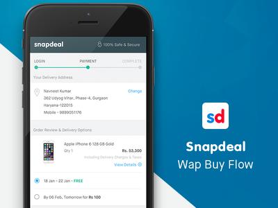 Snapdeal Wap Buy Flow