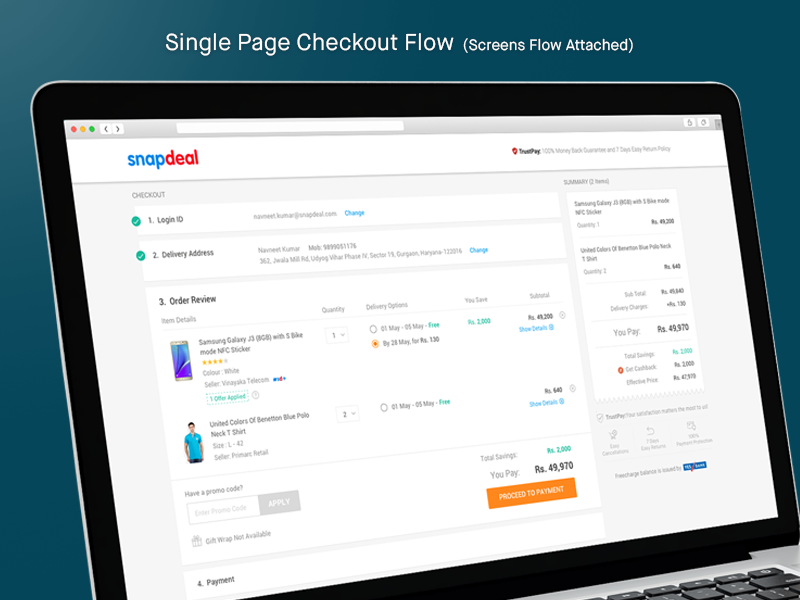 Checkout Flow shopping ecommerce checkout payment shipping address buy flow e-commerce