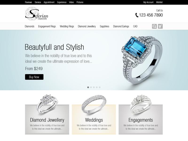 Jewellery Website (Archive 2013) jewellery website