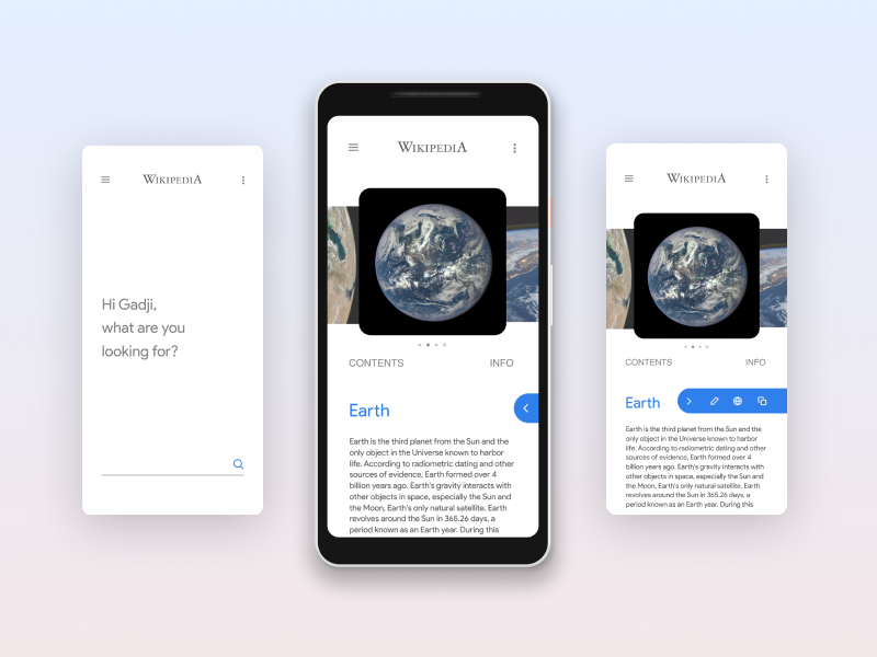 Wikipedia App redesign by Gadji Gumasov on Dribbble