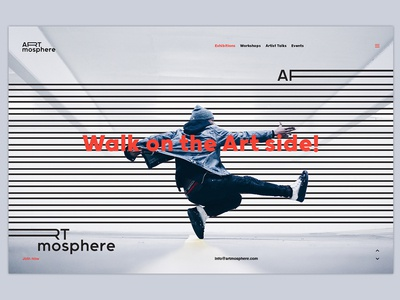 Artmosphere Webpage Design