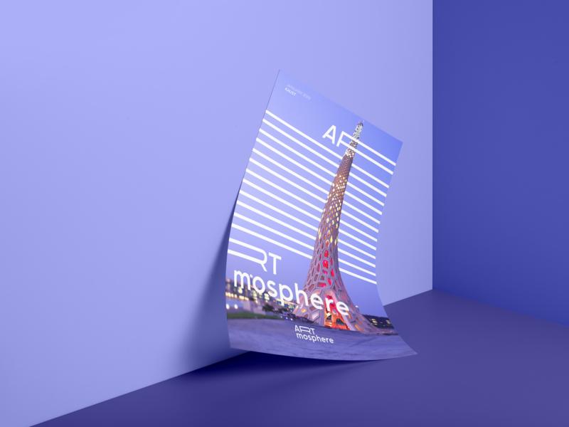 Artmosphere Poster Design visual design print design saudi poster design beacon kaust logo identity design branding poster