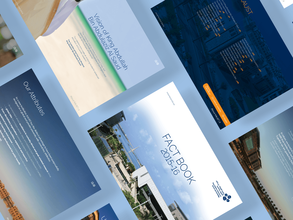 KAUST Factbook - An interactive annual report graphic design infographics saudi beacon publication design editorial design design kaust pdf interactive annualreport report