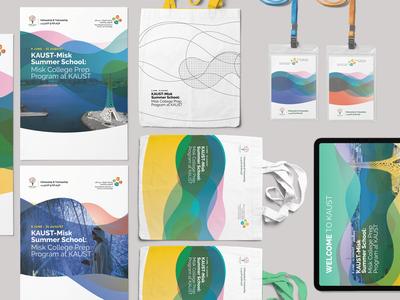 KAUST-Misk Summer School Program identity design