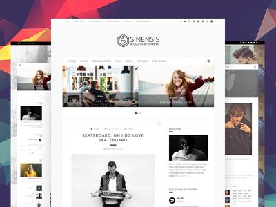 Sinensis - Personal Blog Web Design