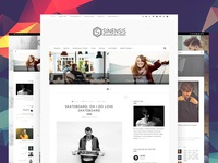 Sinensis - Personal Blog Web Design