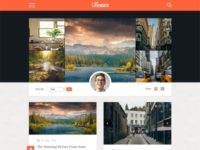 Vienna - Content Focused Personal Blog Theme blogging web design light white unsplash wordpress website blog hero