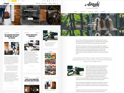Airashi Personal Blog teaser hero blog website wordpress unsplash white light web design blogging