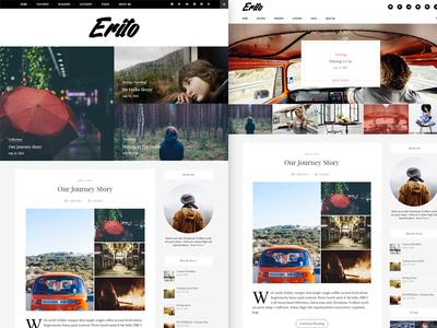 Erīto V1.1.0 | Personal Blog WordPress Theme