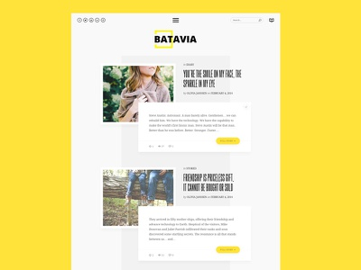 Batavia WordPress Theme ux ui javascript html css ajax web design website magazine blog