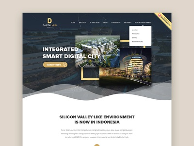 WIP - DIGITAL HUB by SINARMAS LAND typography website hero homepage web design