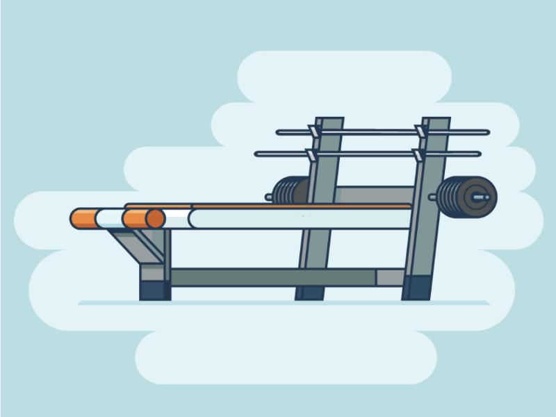 Workout! animation motion gym vector design illustration