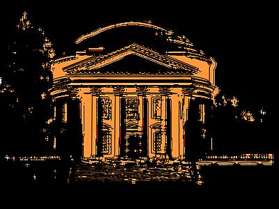 UVa Rotunda uva vector web drawing illustration design
