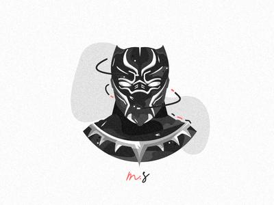 Flat Black Panther