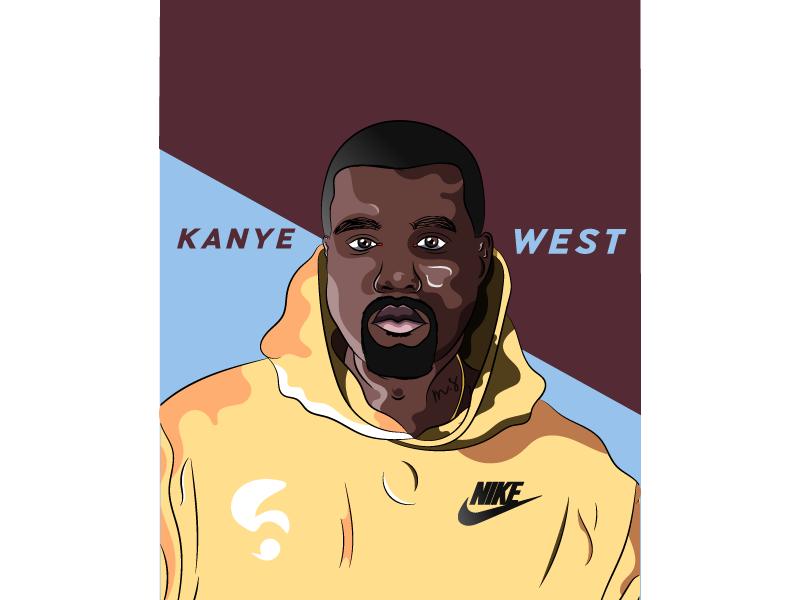 Kanye West youtube kanyewest morgansolnon illustrator illustration rap black avatar