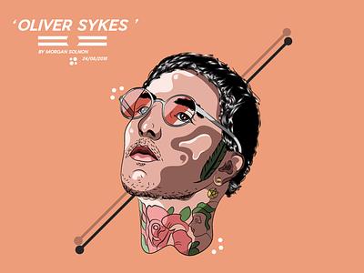 Oliver Sykes horizon the me bring sykes oliver instagram illustrator illustration orange avatar
