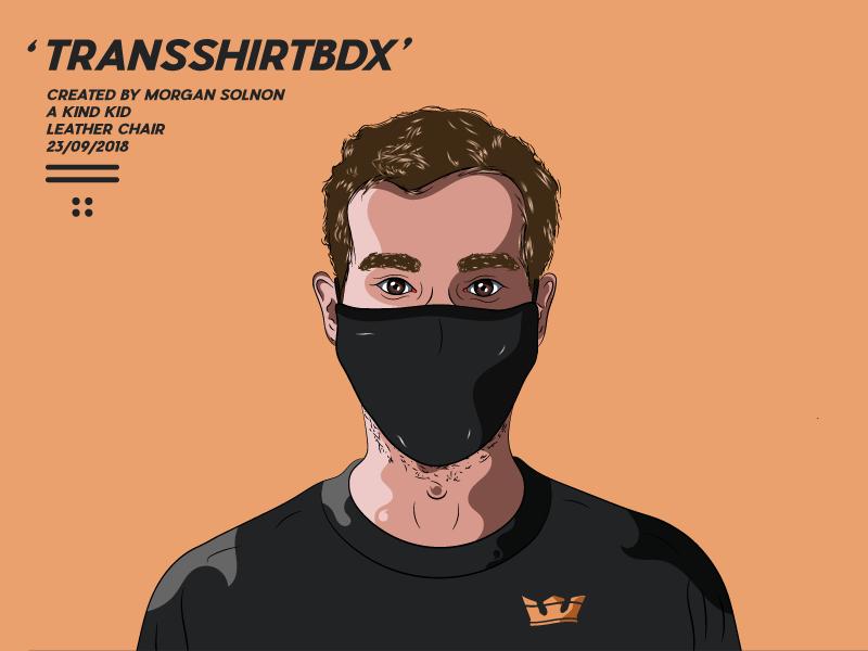 TransShirtBdx tshirt transshirt instagram illustrator illustration orange avatar