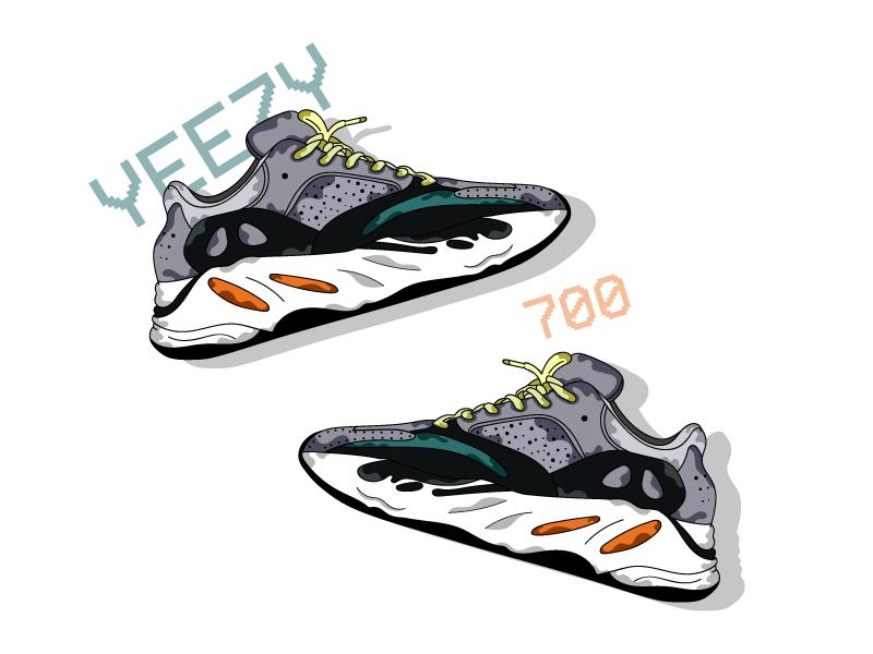 Yeezy 700 morgansolnon yeezy 700 yeezy sneakers illustrator shoes dribbble illustration