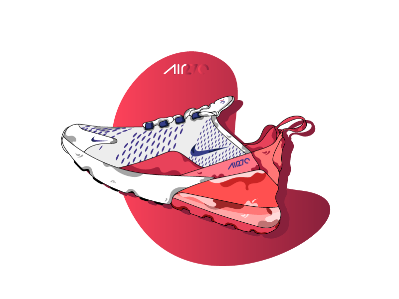 Air Max 270 flat design air max 270 air max sneakers shoes design ui vector morgansolnon dribbble illustration