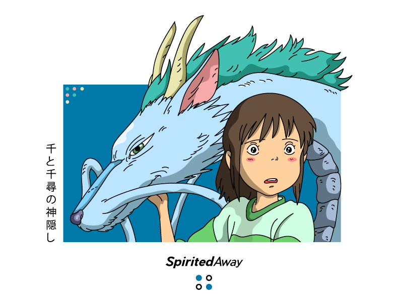 Spirited Away ghibli morgansolnon away spirited illustration face dribbble design avatar art