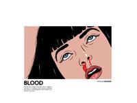 Uma Thurman morgansolnon illustration fiction pulp face dribbble design thurman uma avatar art