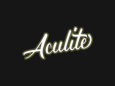 Aculite Cursive Merchandise Design