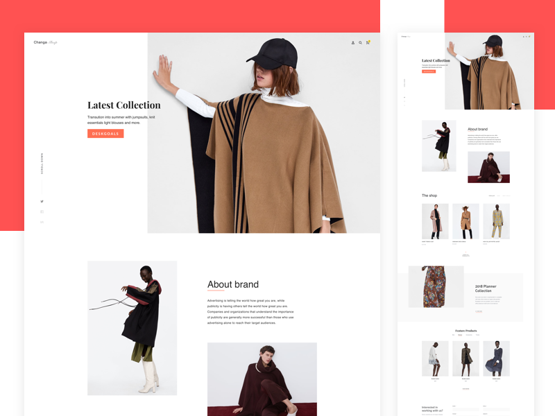 Women's clothing page illustration logo web website web design ux ui design app