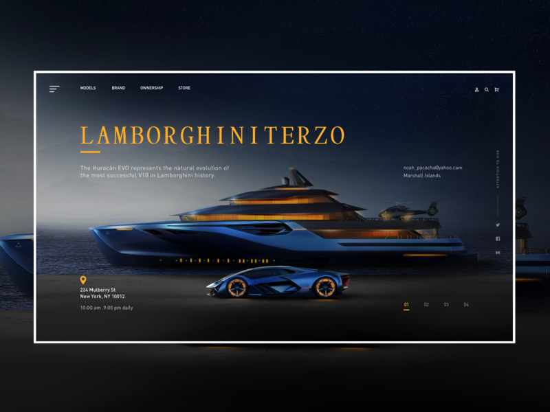lamborghini-car-design icon logo web desing car web design ux ui web design