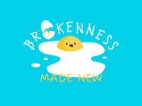 Brokenness sticker