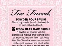 Too Faced Powder Pouf packaging (reverse)