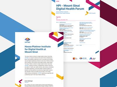 HPI∙MS Collaterals collateral design healthcare digital health institute mount sinai hasso plattner brand branding