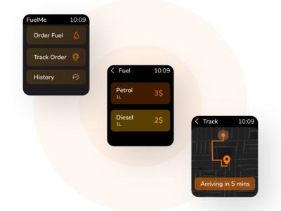 Fuel Ordering App concept (Apple Watch)