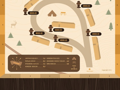 Field Guide - Area Map Legend show event field guide nature hiking brown hunting outdoors