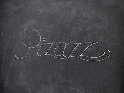 """Pizazz"" Lettering Exploration hand lettering typography pizazz pizzazz chalk chalkboard"