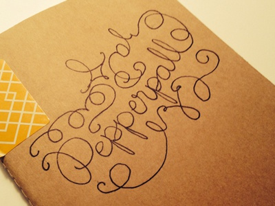 Pepperpalooza Hand Doodle lettering hand-rendered type notebook ink pen drawing type