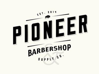 Logo barber shop buffalo vintage minimal identity logo