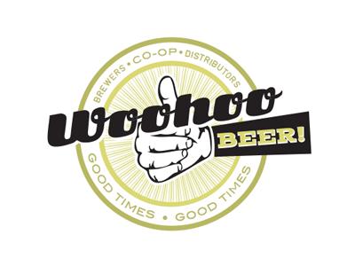 Woohoo Beer! Logo beer logo emblem brewery logo