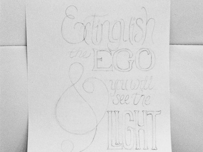 Hand Lettering - pencil rough hand lettering hand rendered quote