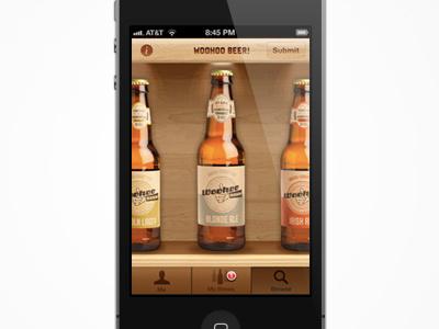 Woohoo App app beer craft beer mobile wood ui design