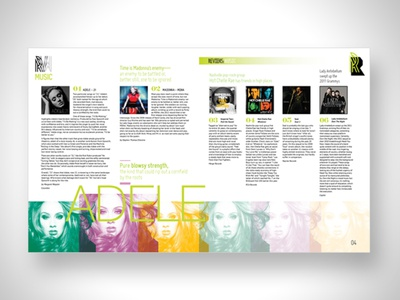 Feature Spread music review music layout magazine spread magazine