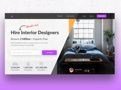 Landing page for Freelance Designers