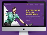 Noida Badminton Academy Ui Design