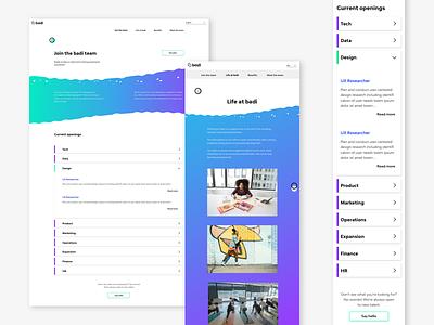 Another Careers Page interaction design careers jobs responsive design user inteface ui  ux design ux web design