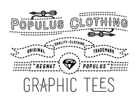 Populus Clothing Screened T-Shirt Tag