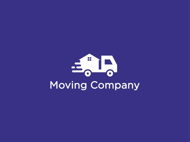 Moving Company logo minimalist clean logos creative truck house moving company fimbird logo