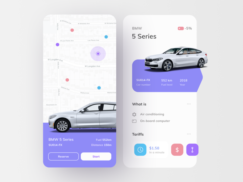 Carsharing 🚘 carsharing rent a car car car app ui  ux uidesign